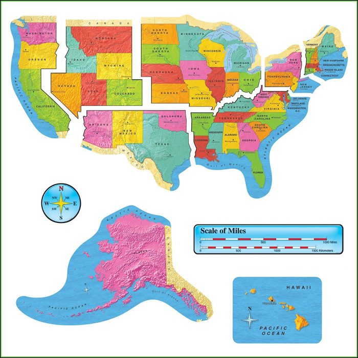 United States Map Bulletin Board