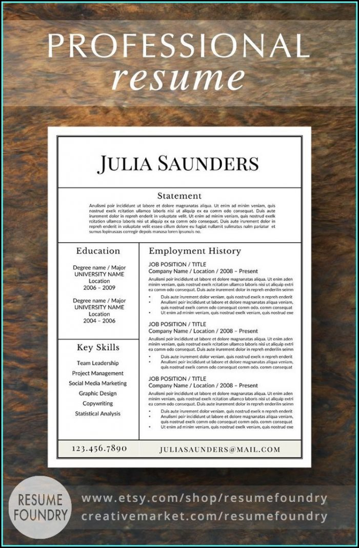 Us Resume Template Download