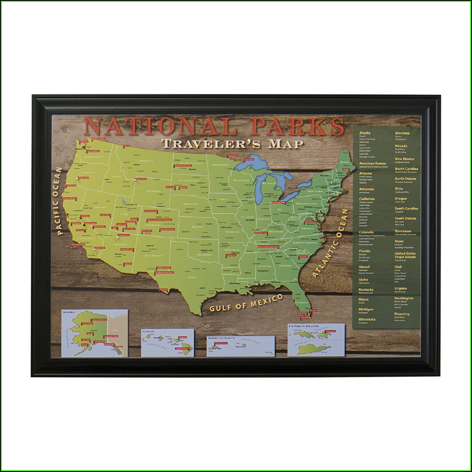 Us Travel Map Push Pins