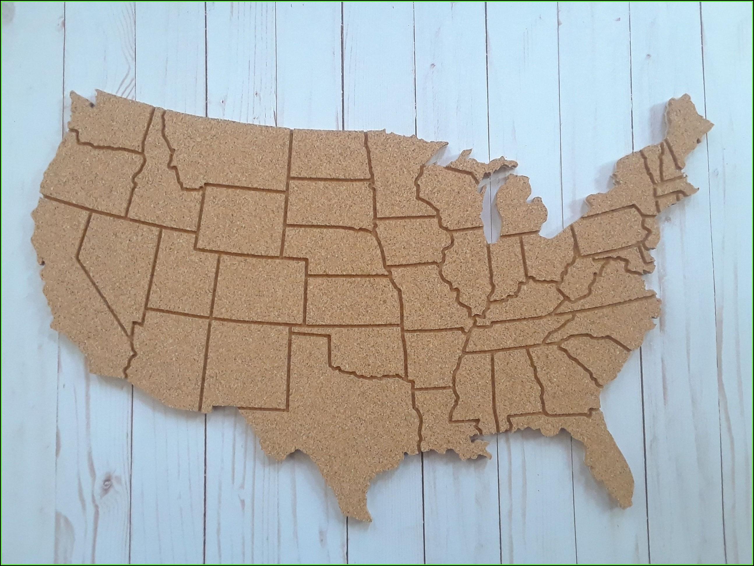 Usa Map Bulletin Board
