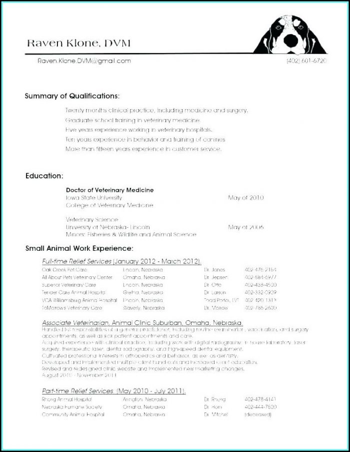 Vet Assistant Resume Template