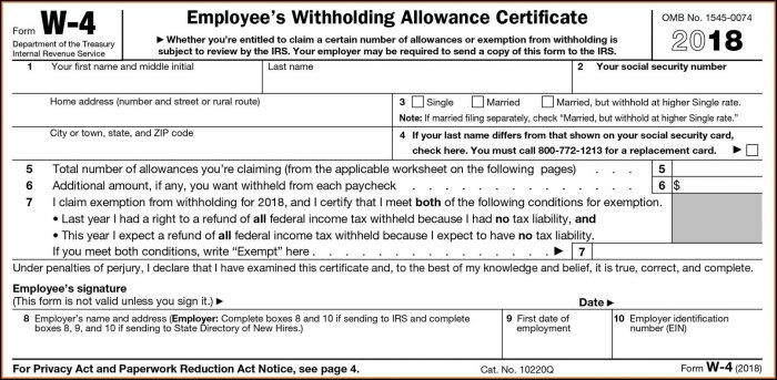 W2 Form For Employees 2019