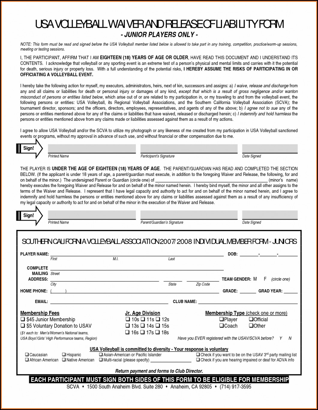 Waiver Of Subrogation Form For Workers Compensation