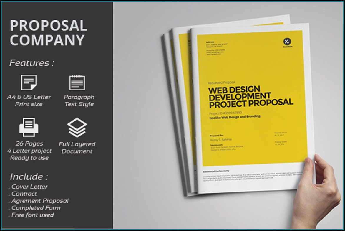 Web Design Proposal Template Free