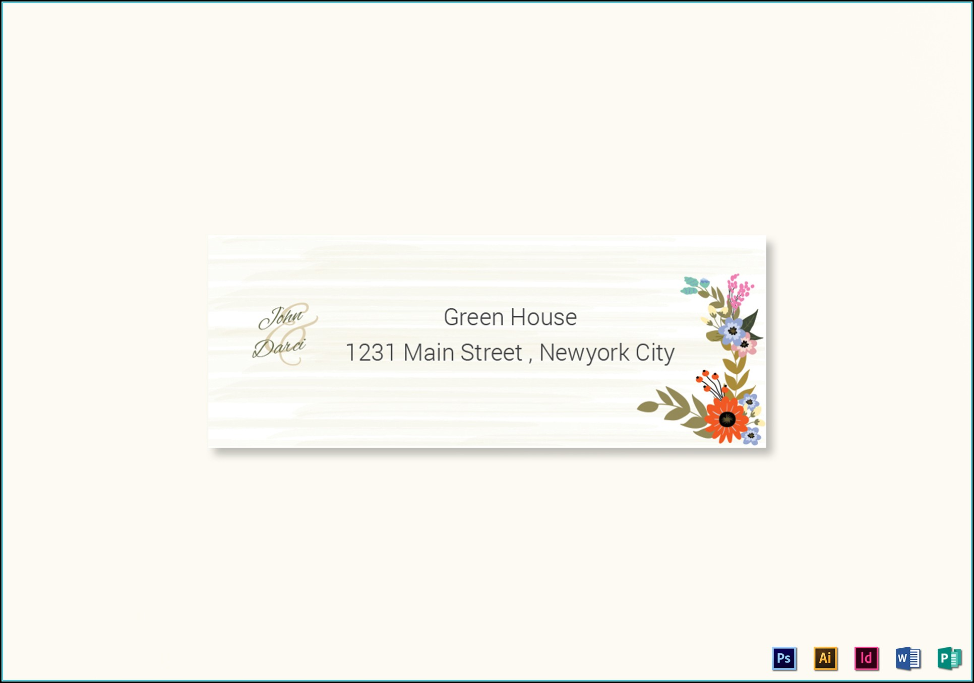 Wedding Address Label Template