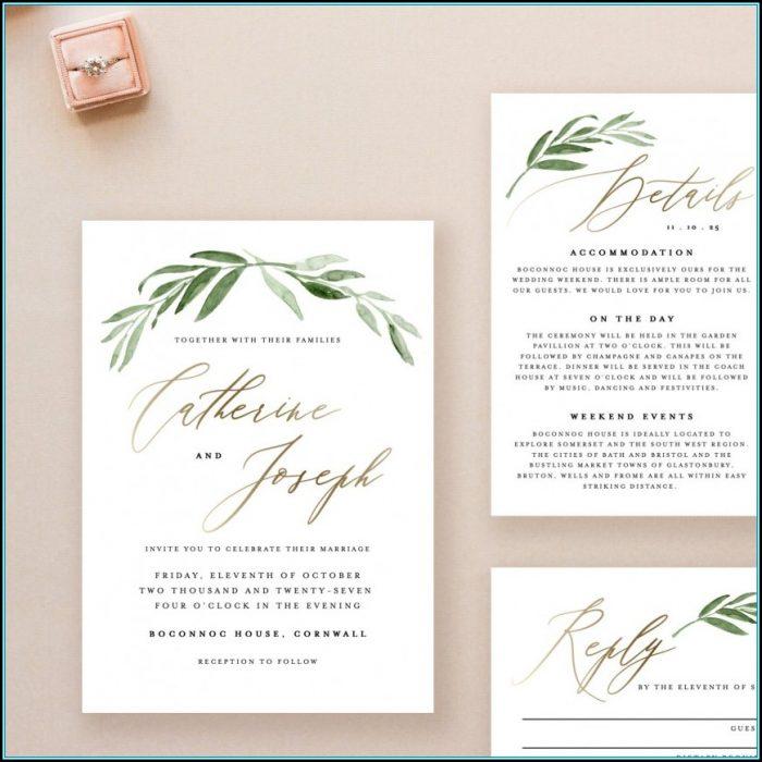 Wedding Invitation Template Downloads