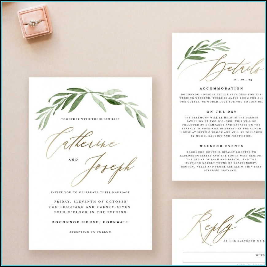 Wedding Invitation Template Downloads
