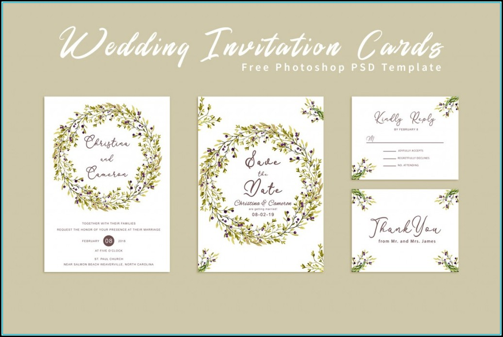 Wedding Invitation Templates Download Photoshop