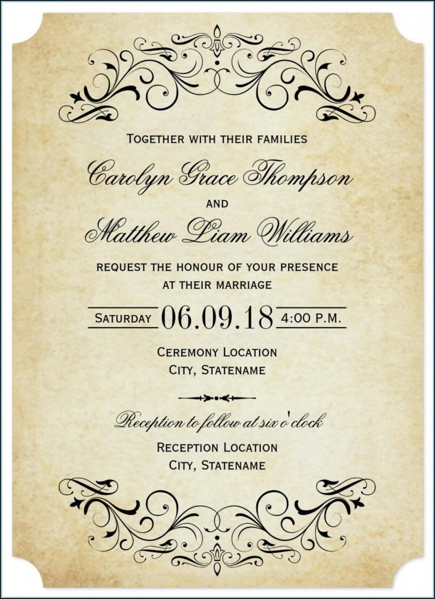 Wedding Invitation Templates Photoshop Download Free