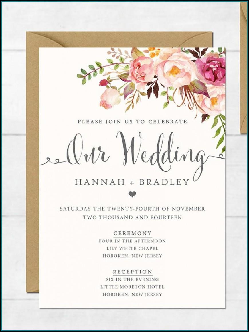 Wedding Invitations Templates Photoshop