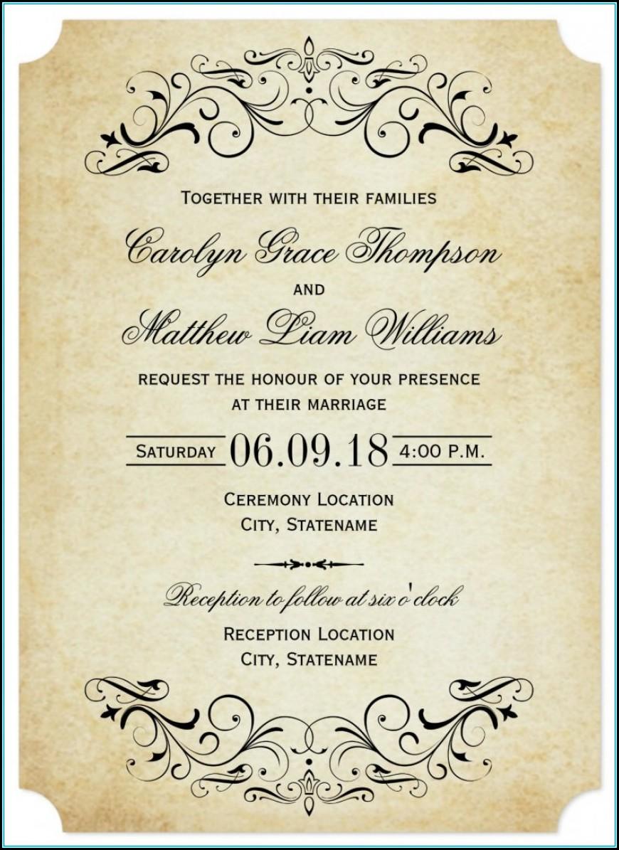Wedding Invite Template Download Free