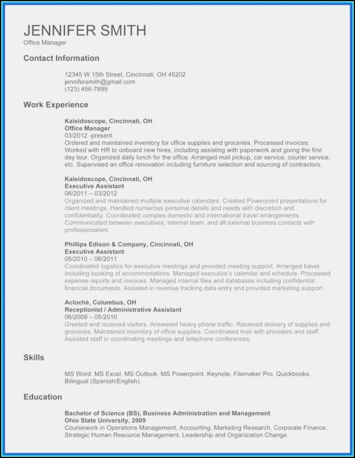 Wordpad Resume Template Download Free