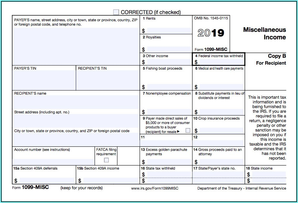 1099 Form Fillable 2017