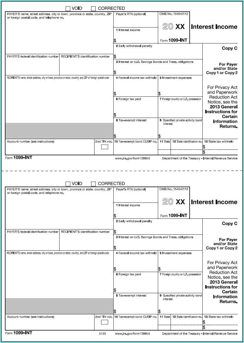 1099 Misc Form 2014 Instructions