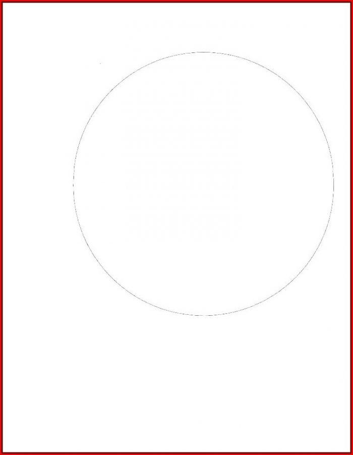 2 Inch Diameter Circle Template