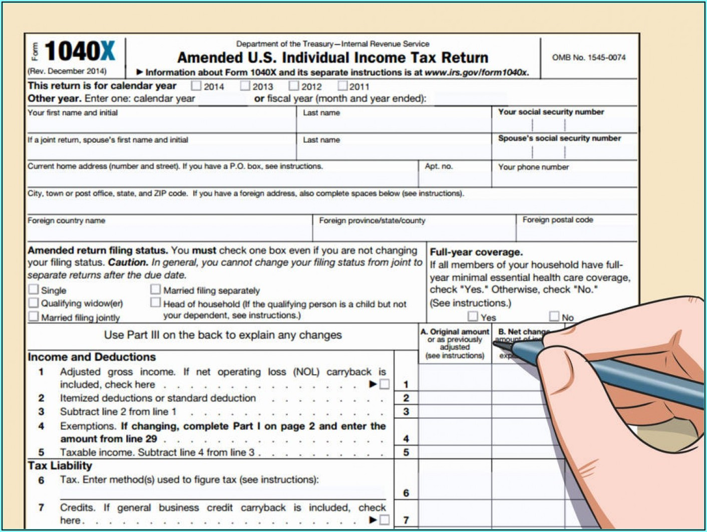 2013 Irs Tax Forms 1040a