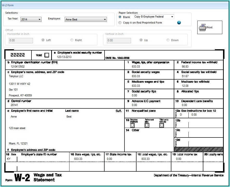2019 W2 Forms For Employees