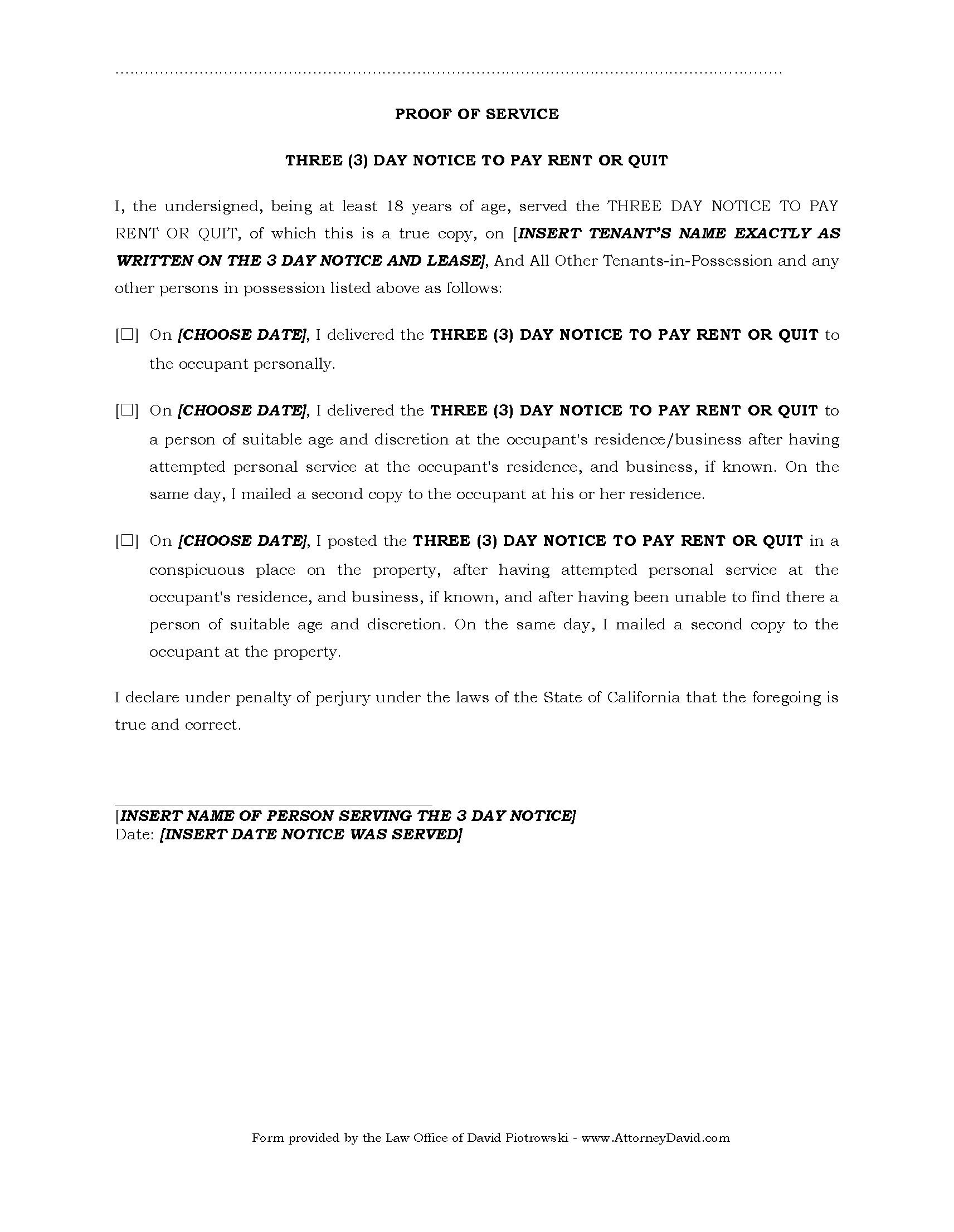 3 Day Eviction Notice Form Florida Pdf
