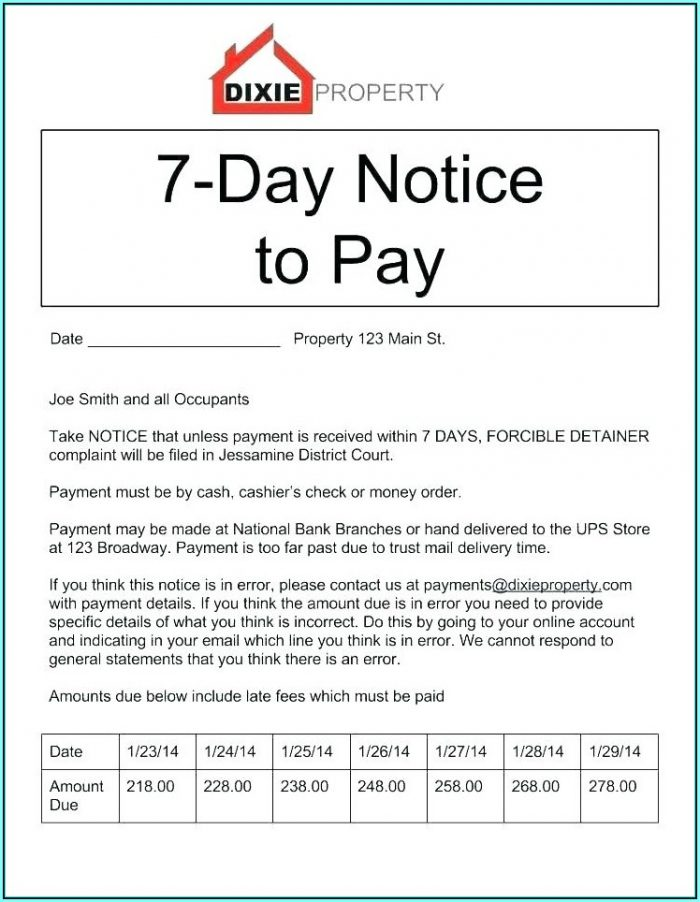 3 Day Eviction Notice Sample Florida