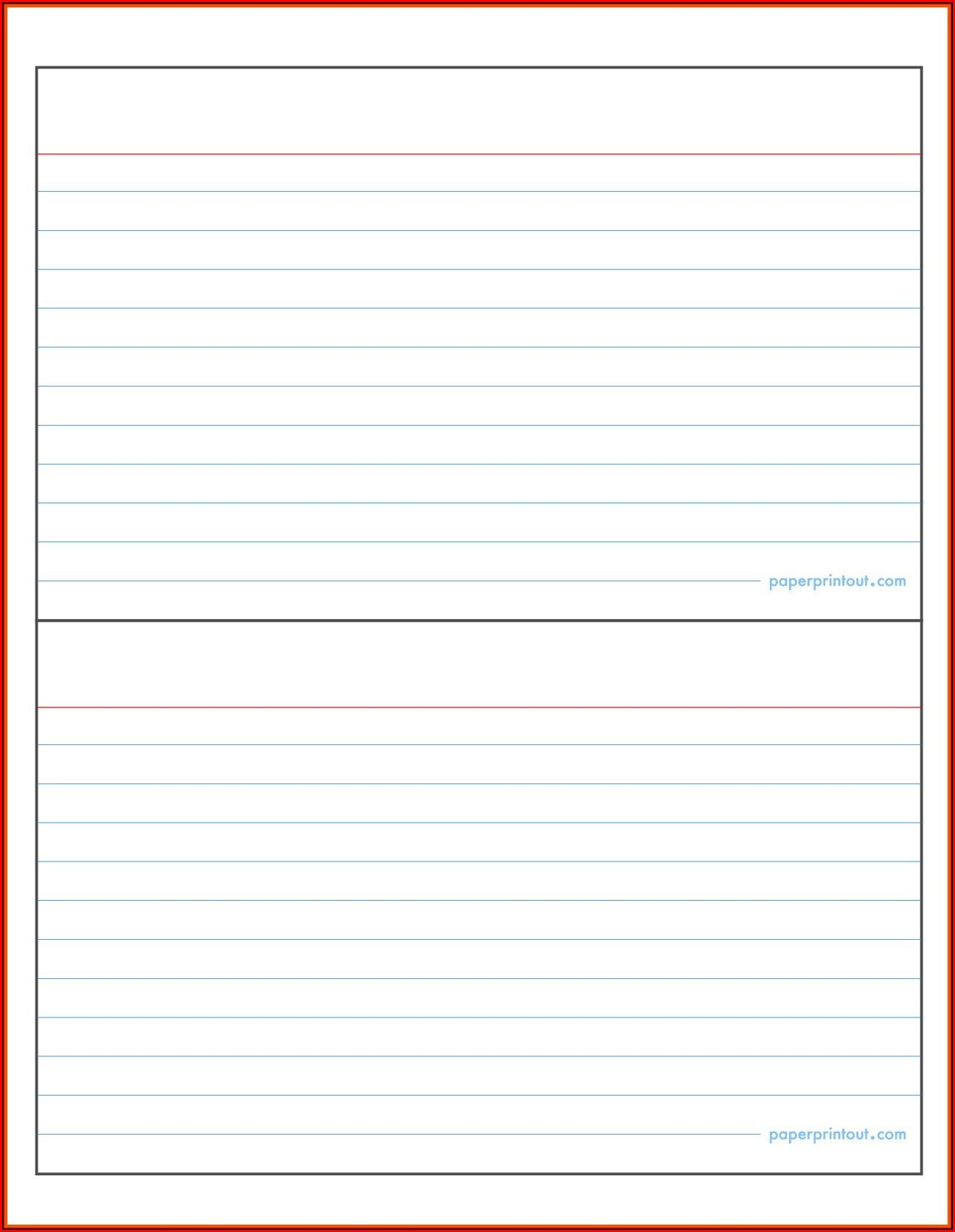 4x6 Index Card Template For Pages