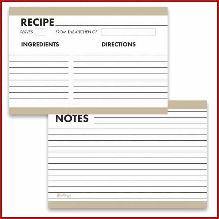 4x6 Index Card Template Google Docs