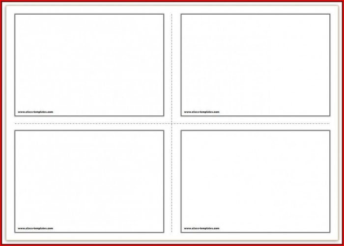 4x6 Index Card Template Word 2013