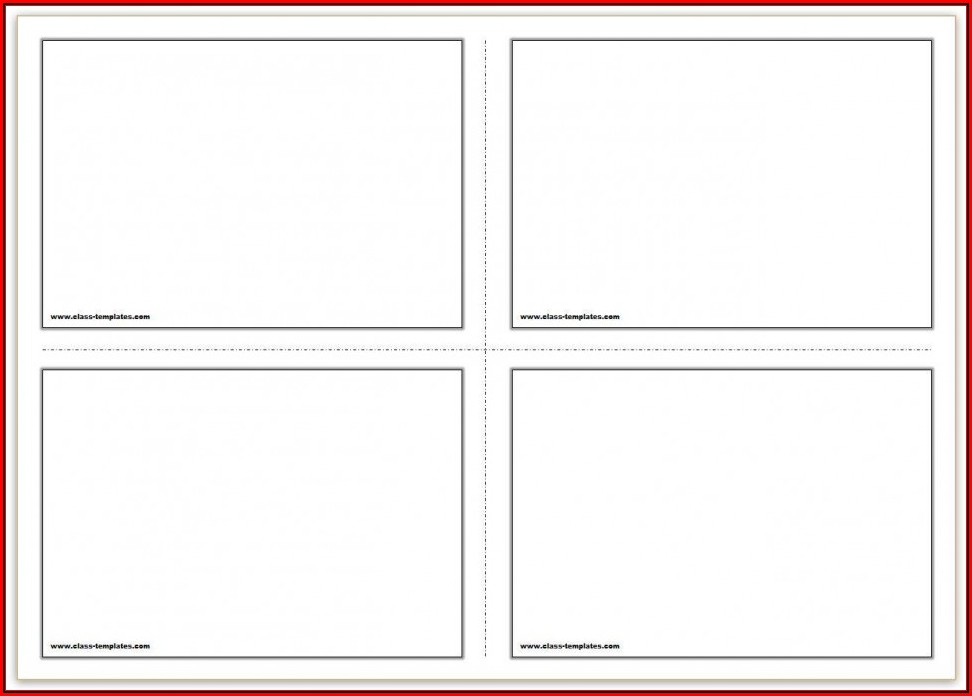 4x6 Index Card Template Word 2013 - Template 1 : Resume ...