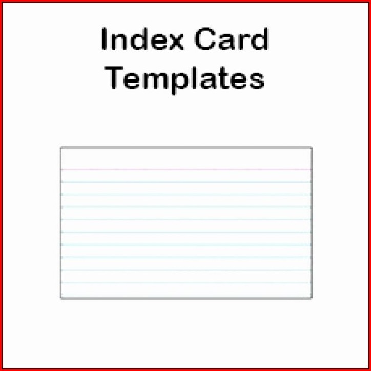 4x6 Index Card Template Word 2016