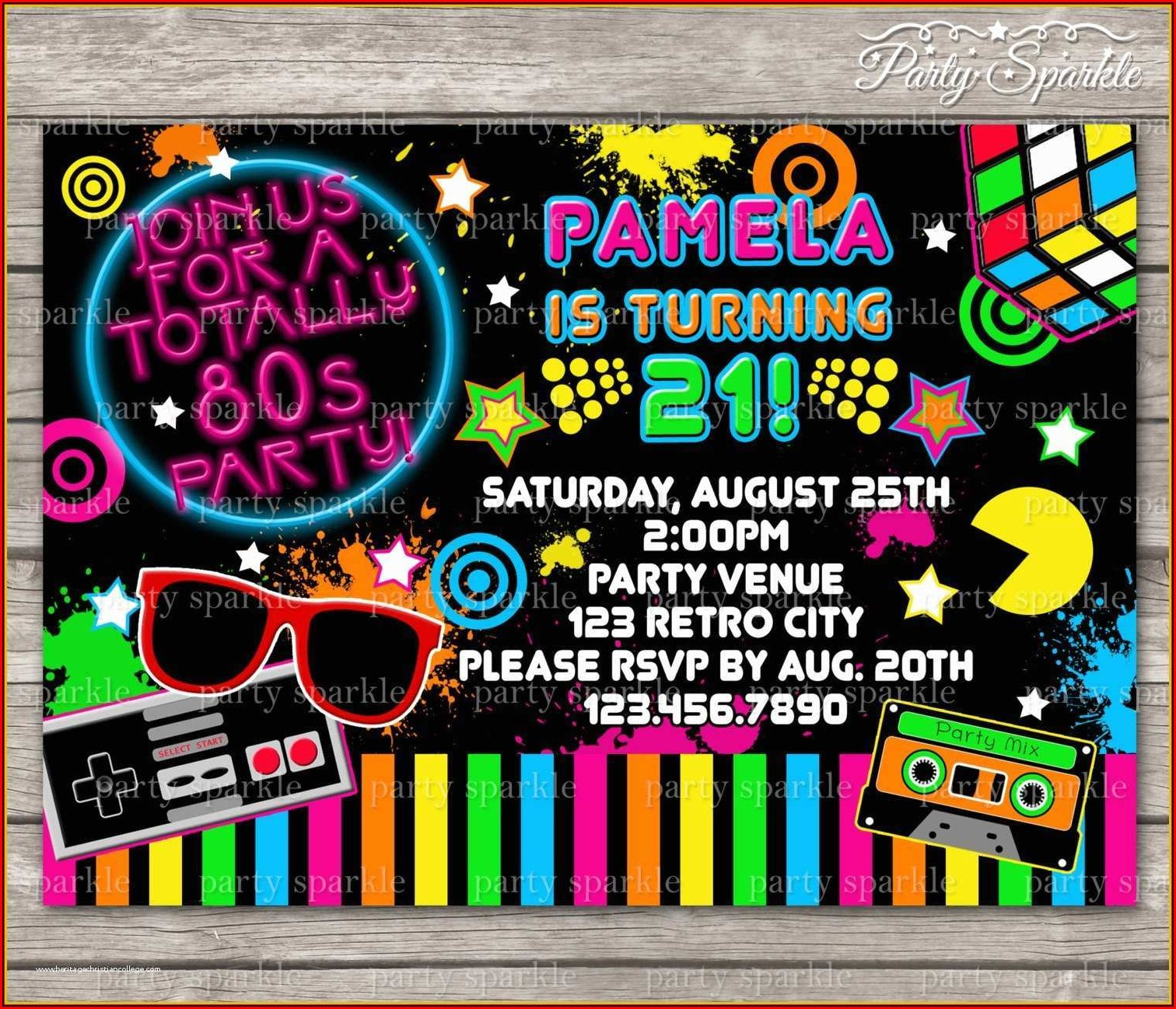 90s Birthday Invite Template
