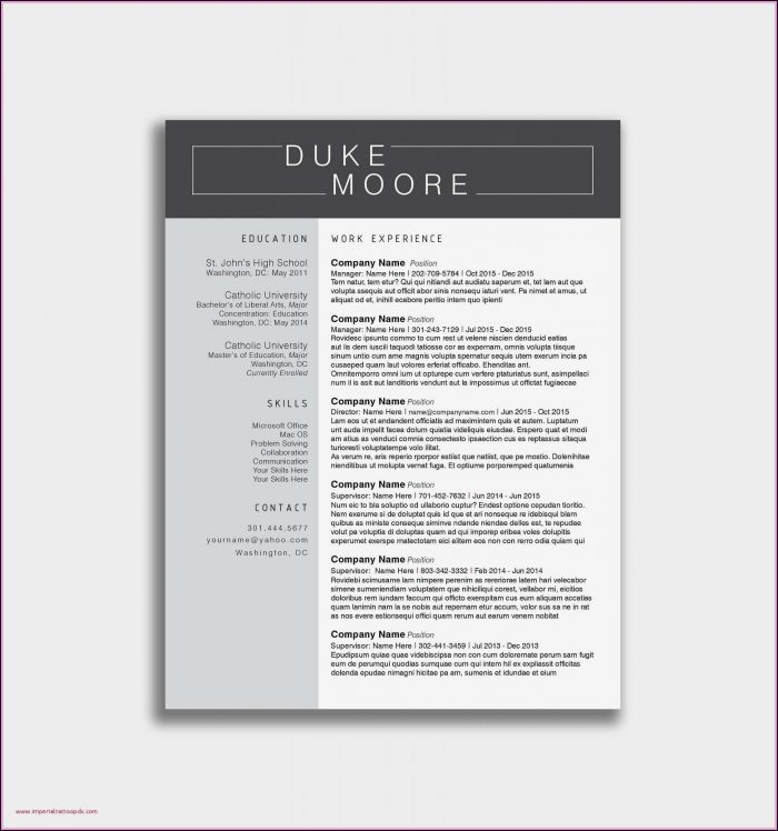 A Resume Outline