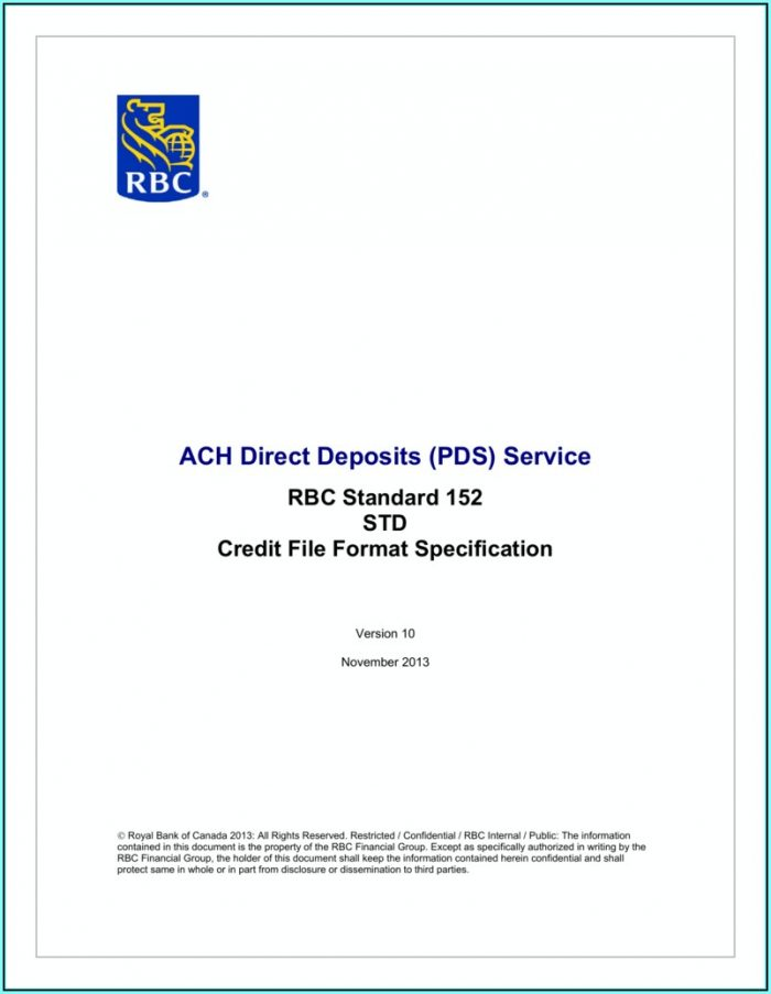 Ach Direct Deposit File Format