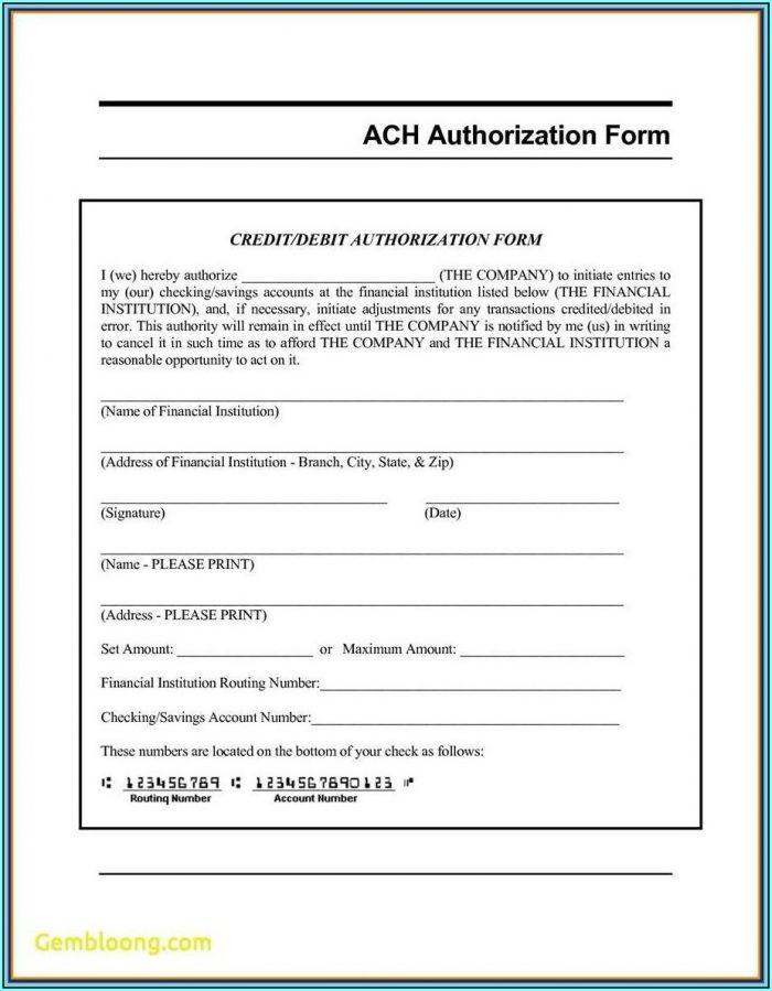 Ach Direct Deposit Form