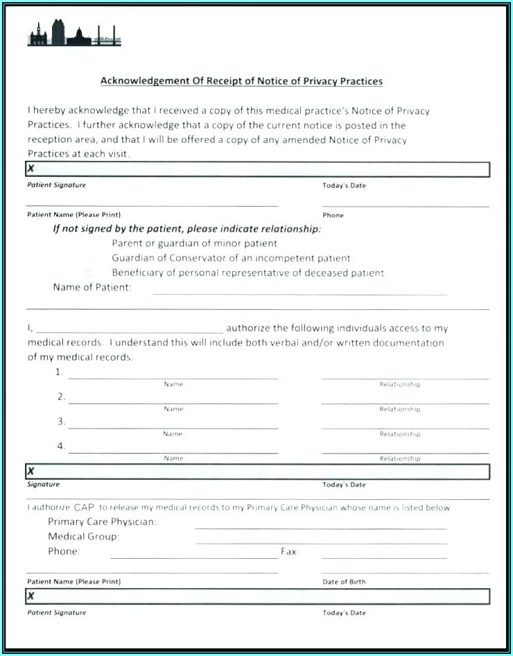 Acupuncture Intake Form Template Free