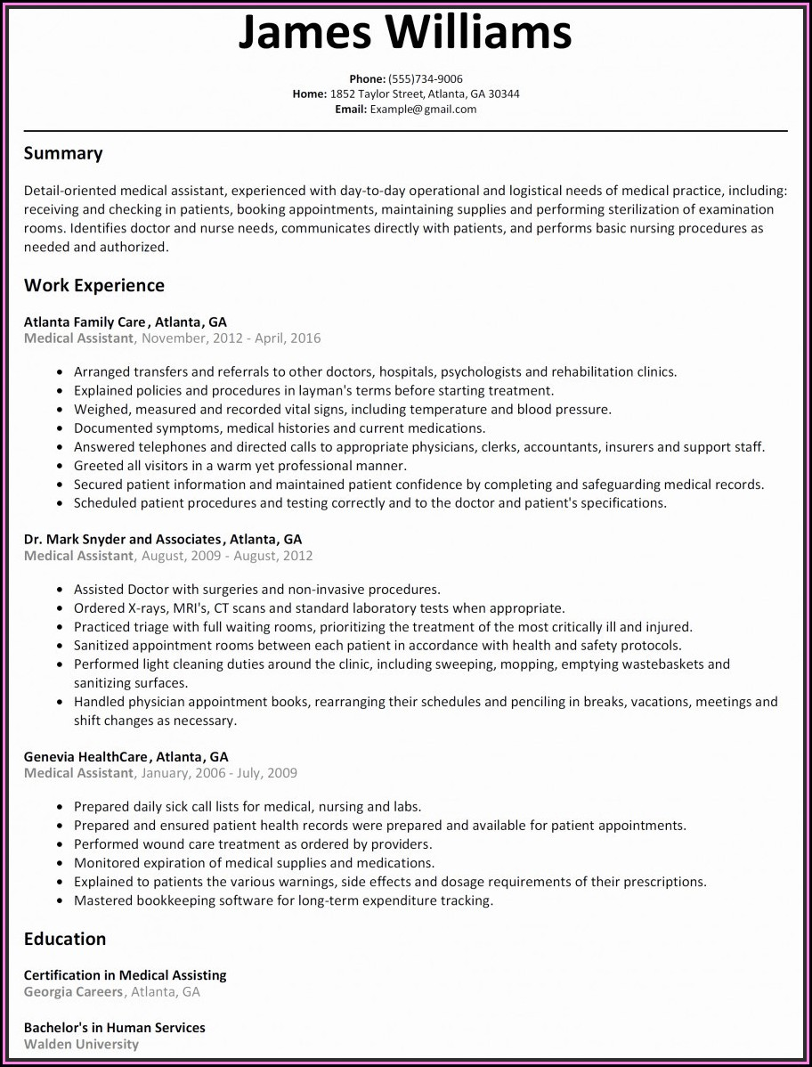 Admin Executive Resume Word Format