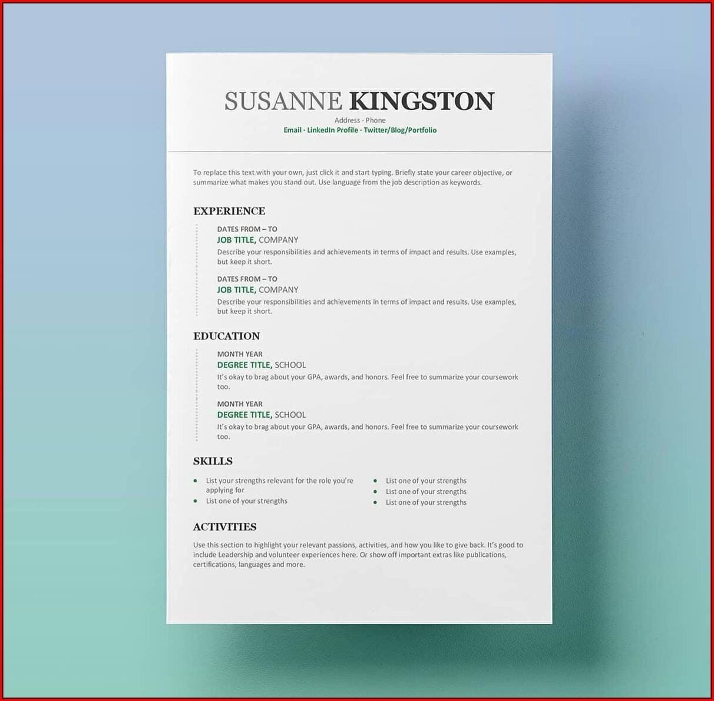 Amazing Resume Templates Free