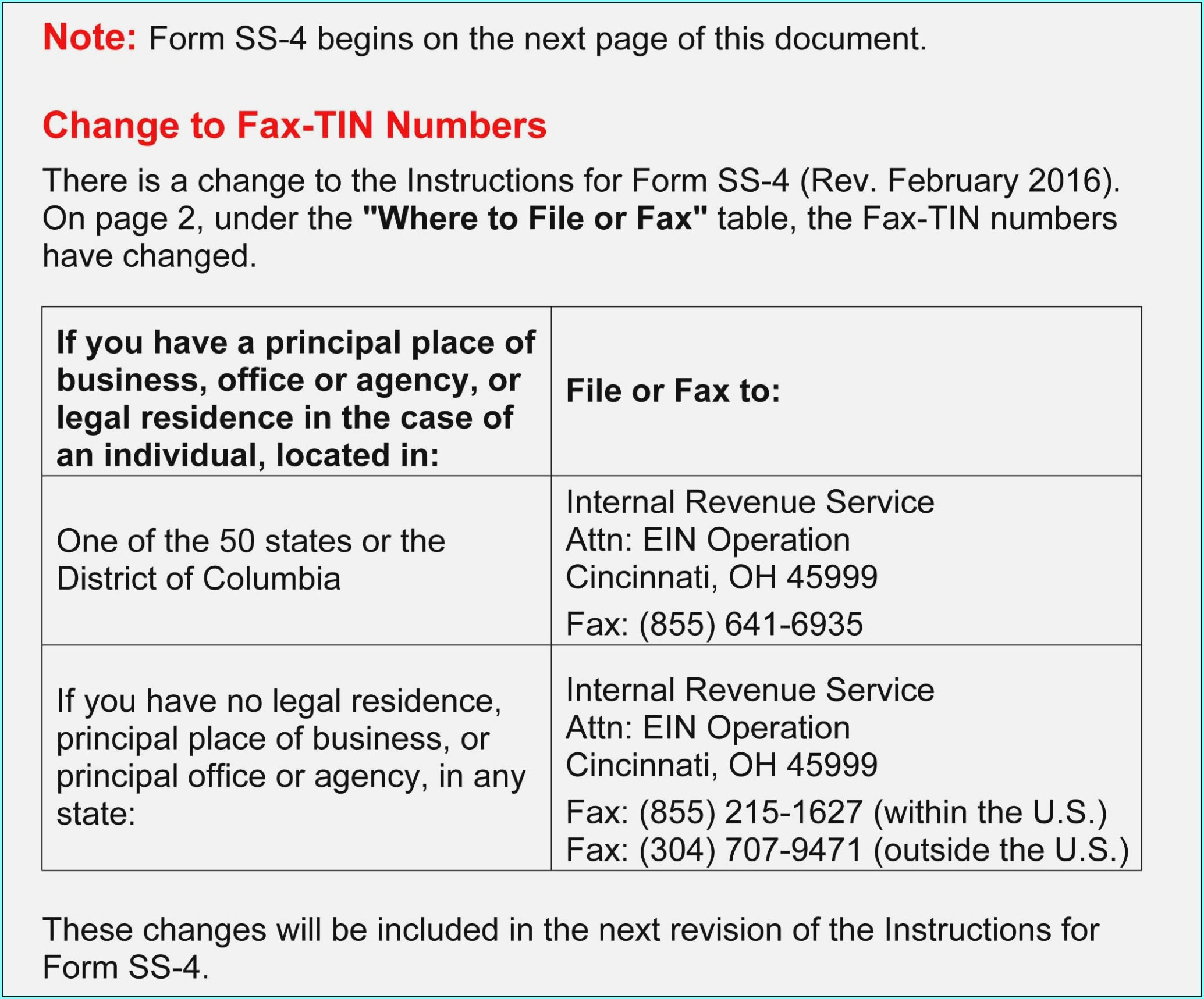 Application For Ein Number Form