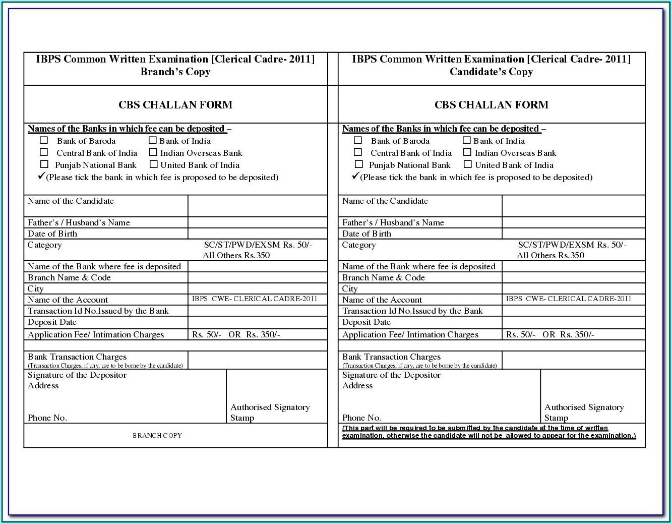 Application Form For Pan Card Offline