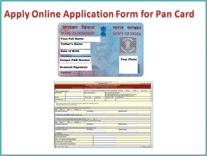 Application Form For Pan Card Online