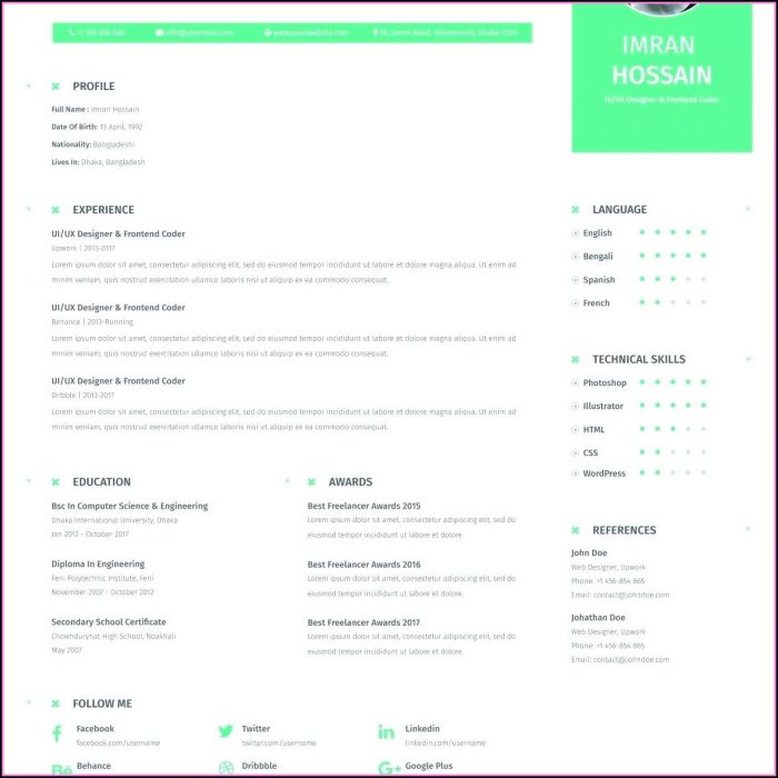 Attractive Resume Templates