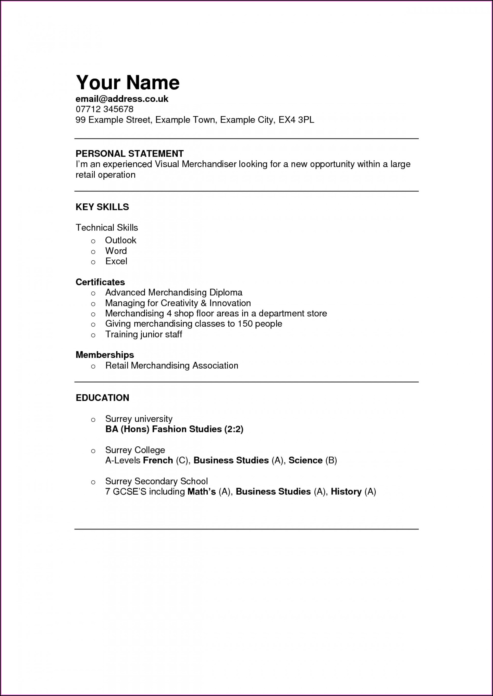 Attractive Resume Templates For Freshers Free Download