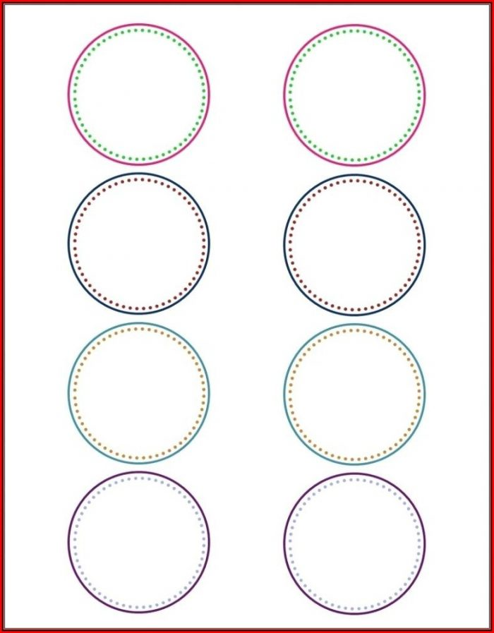 This is a graphic of Simplicity Avery Round Labels 22818