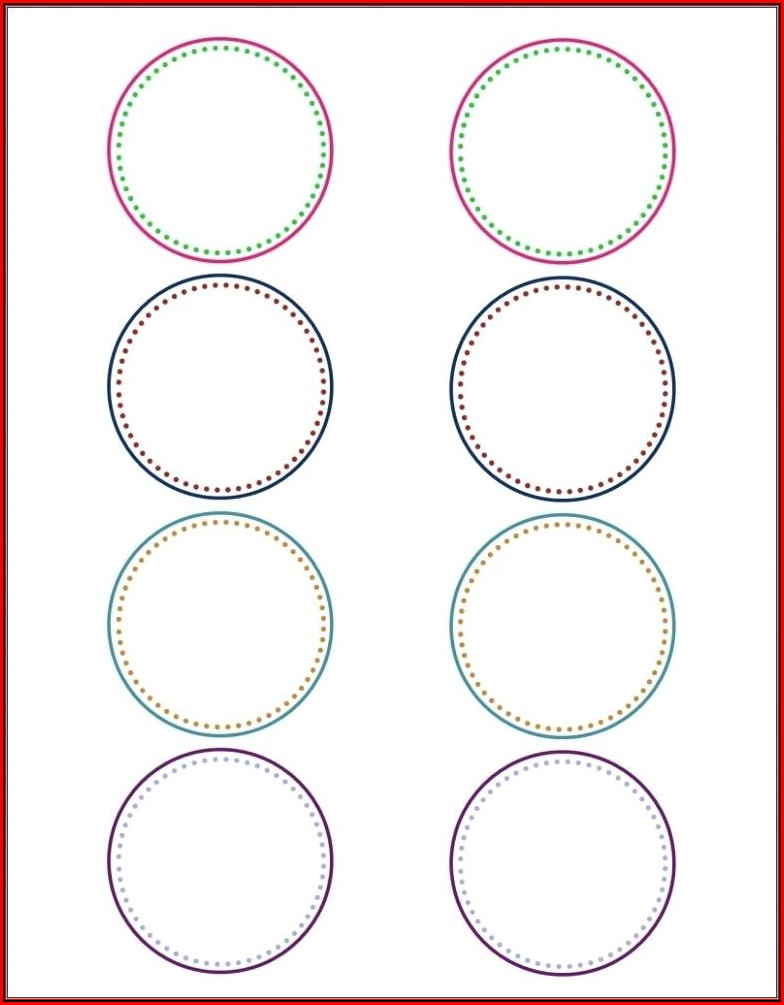 Avery 2 12 Inch Round Label Template