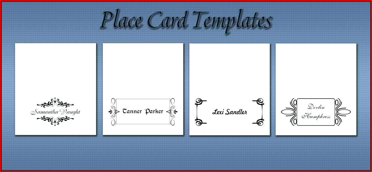 Avery Seating Card Template