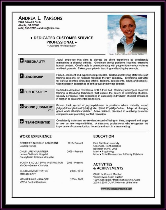 Aviation Pilot Resume Template