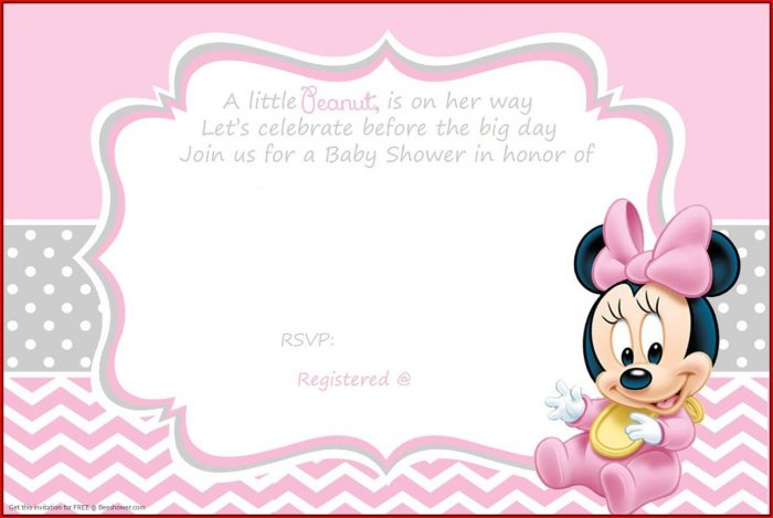 Baby Minnie Mouse Invitation Template Free