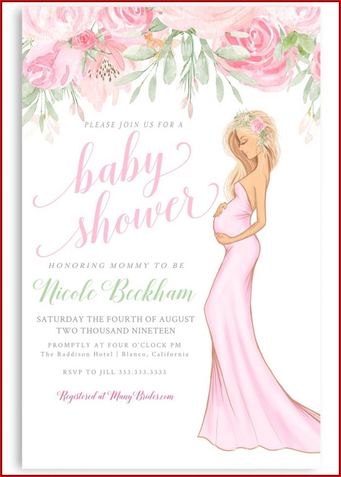 Baby Shower Invitation Girl