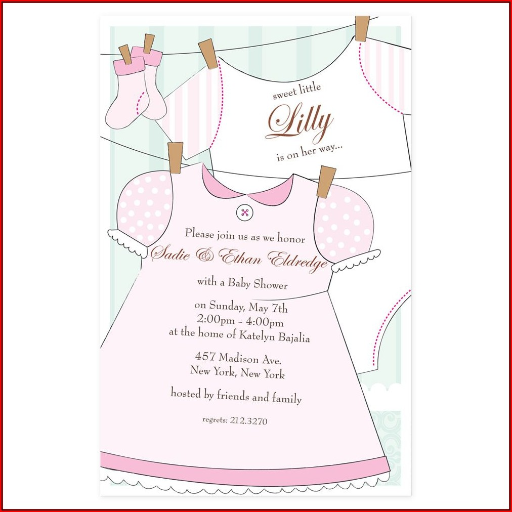 Baby Shower Invitations Girl Online