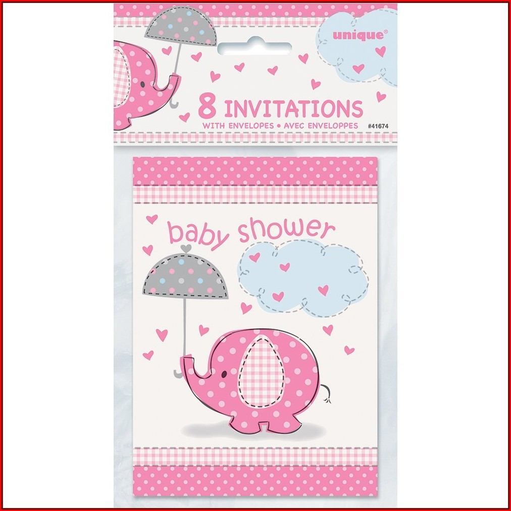 Baby Shower Invitations Girl Walmart
