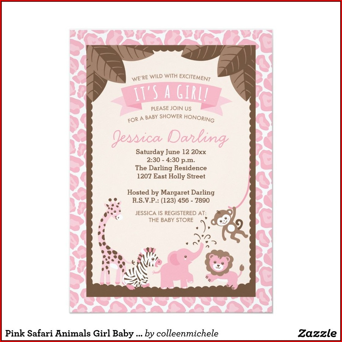 Baby Shower Invitations Girl Zazzle