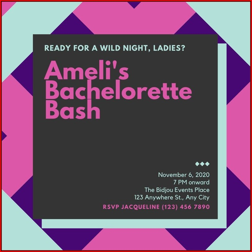 Bachelorette Invitation Templates
